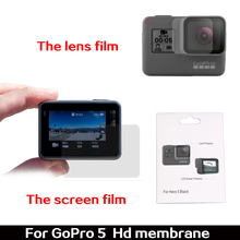 New Wholesale Factory Price Ultra Clear LCD Screen Protector + Lens Protector Film For GoPro Hero 5