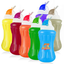 2012 new style 600ml/20oz BPA free kids plastic sport water bottle with straw