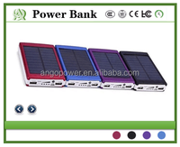 2016New High Capacity25000mAh Portable USB Solar Energy Panel power bank with LED light