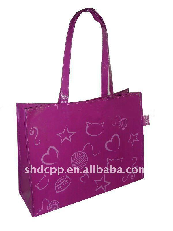 pictures printing fancy non woven shopping bag
