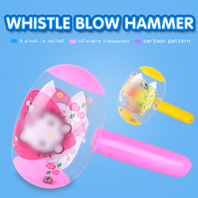 Yiwu xuanmiao wholesale factory price colorful inflatable hammer with whistle for kids toy
