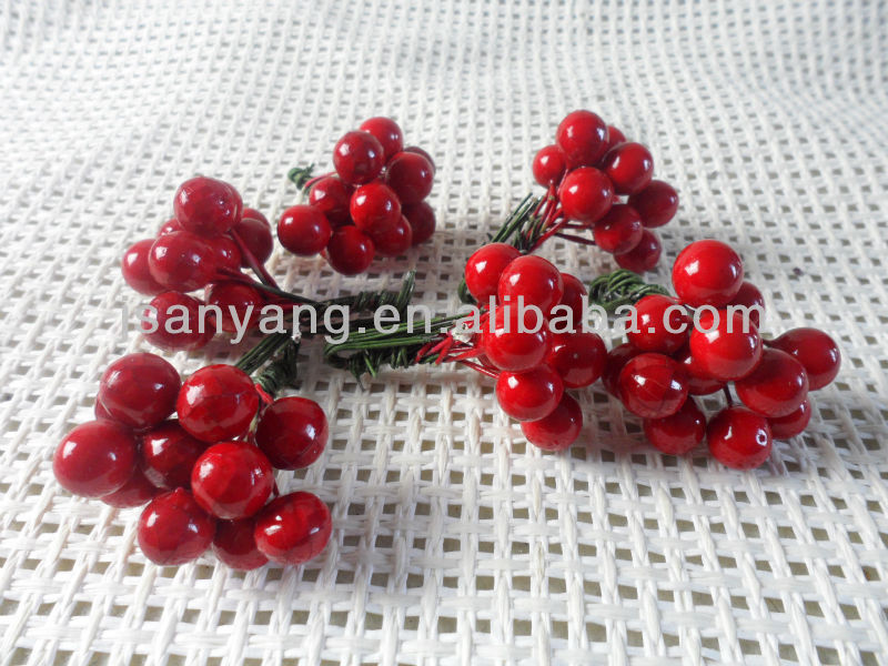 artificial Red Circle berries