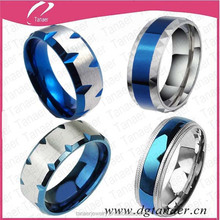 Cheap wholesale custom spikes stainless steel ring