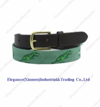 Embroidery needlepoint genuine leather belts