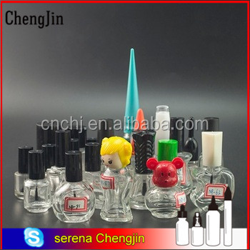 13 15 neck 3ml 5ml 10ml nail polish bottle for nail beauty care with unique caps and brushes supplier Chengjin