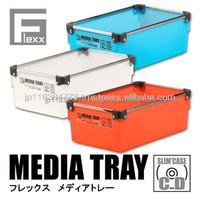 Pencil box plastic case tray wt stainless frame Japan design book comics game soft stationery FLEXX MEDIA TRAY N