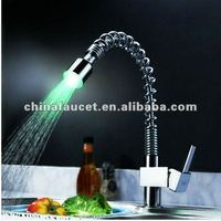 S-165 With 3/7 Colors LED Pull Out Kitchen Faucet