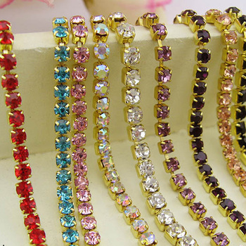 sparse rhinestone cup chain for dress for garment for saddle for shoes decoration