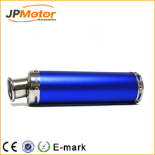 Motorcycle performance exhaust systems frosted blue color Aluminum alloy exhaust muffler