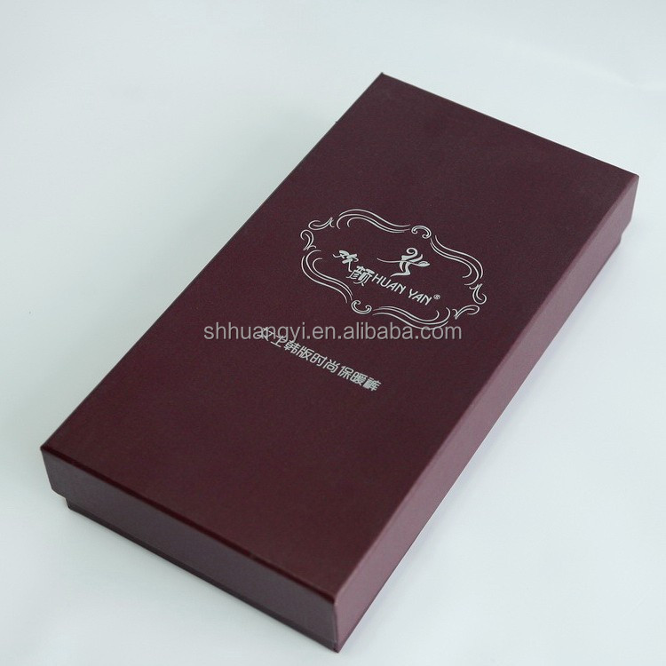 Embossing Glossy Matte Lamination Stamping UV Paper Material black Paper Gift Box