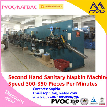 Used sanitary pad making machine can make 2 sizes at the same time for Indian napkin making machine cheap for selling