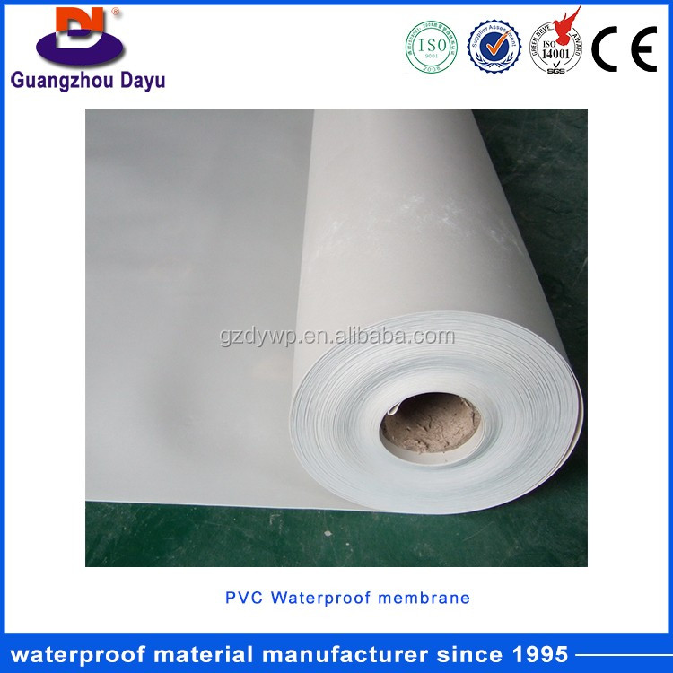 Industrial And Civil Building Roof PVC HDPE and LLDPE Waterproofing Membrane For Roofing