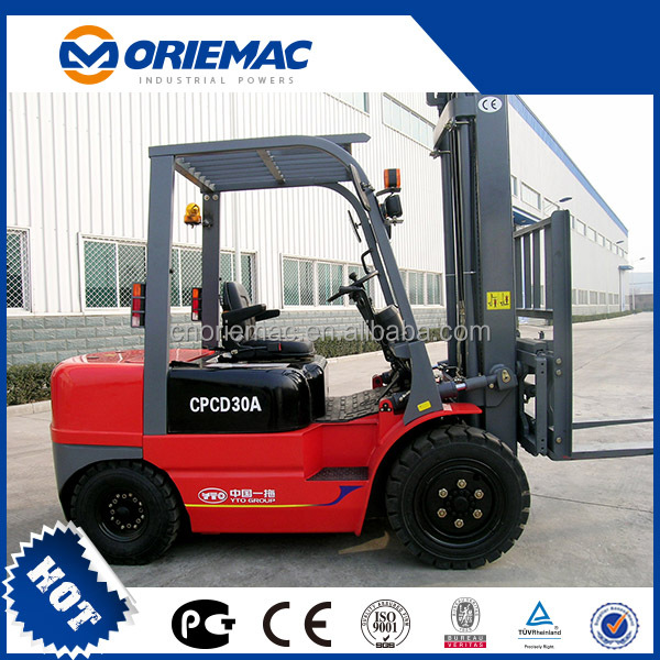 Used Mini Forklift YTO Diesel Forklift CPCD60A forklift battery