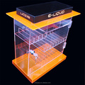 Manufacturer New Design Acrylic Lockable Rotating Necklace Display Case