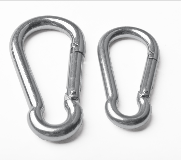 small stainless steel key snap hooks