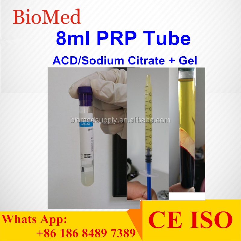 8ml PRP tube with ACD/ Sodium Citrate + gel