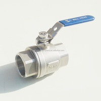 Hebei factory 2pc 2 inch stainless steel ball valve drawing
