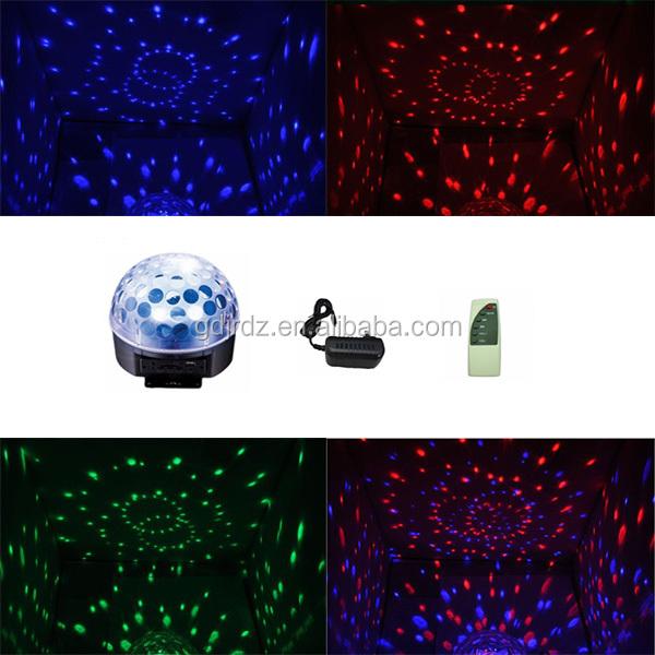 led rgb color mirror magic sound disco dj light