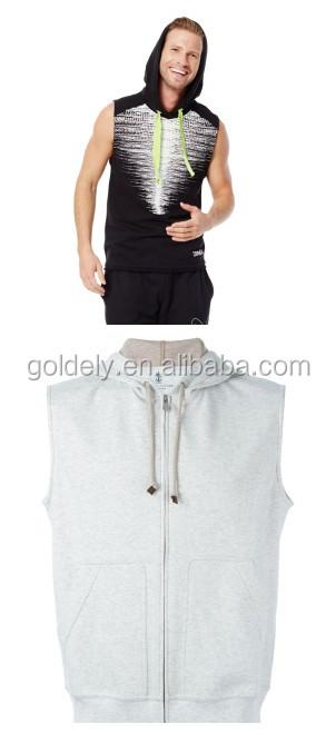 sleeveless zipped hoodie_