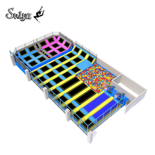 Factory direct sale OEM large CE TUV SGS ASTM standard adult kids amusement park excellent outdoor commercial trampoline park