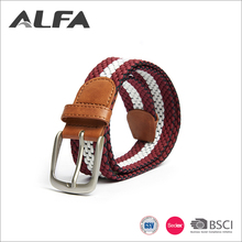 Alfa Wholesale China Goods Custom Colorful Fabric Western Elastic Braided Belt Men