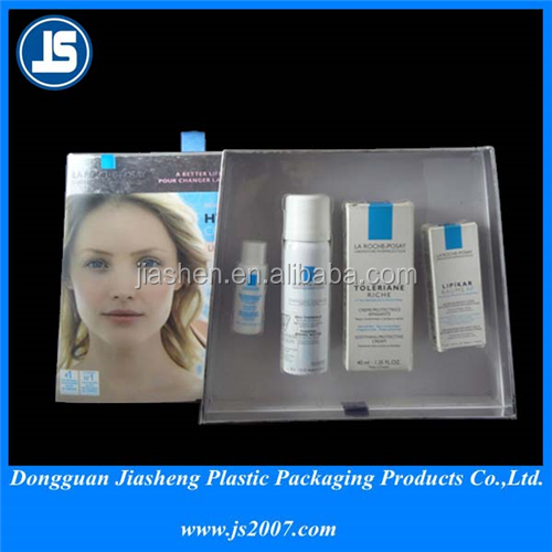 Clear PVC Plastic Cosmetic Trays Box , Soft Plastic Packing For Skin Care