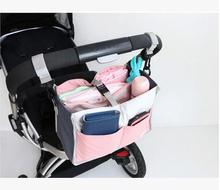 OEM waterproof 2 layer Mami bag Baby stroller hanging baby diaper storage bags