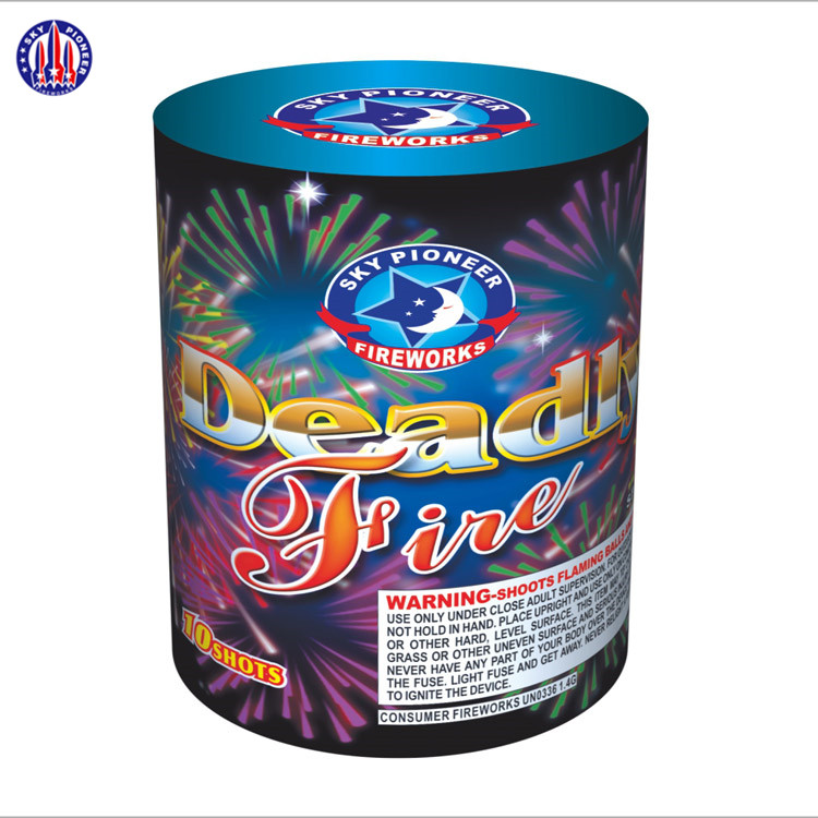 wholesale factory SP2109 Deadly Fire 10 shots round stage cake fireworks