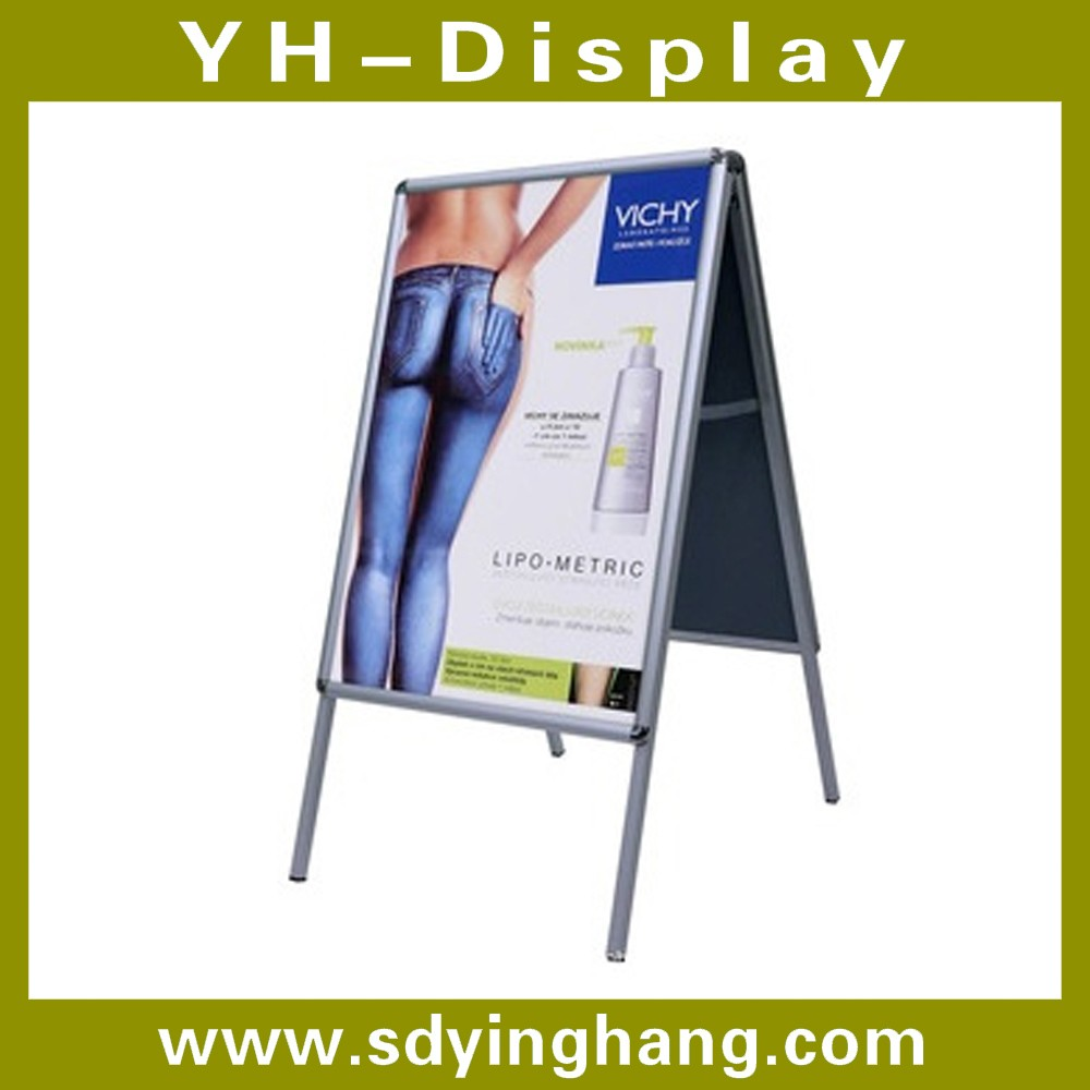 Single or double sides poster display stand for advertising