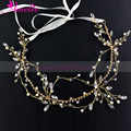 Amelie Forest Wedding Party Series Gold Hair Vine Bridal Head Piece Hair Accessories