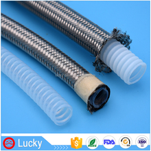 High temperature resistant high pressure flexible 1/2 inch stainless steel braided corrugated Teflon PTFE steam hose