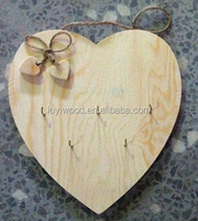 2015 new and best seller wooden crafts heart shape hanging on the wall for home decoration