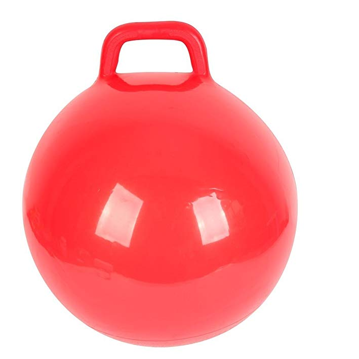 inflatable toy bouncing ball pvc hopper ball with handle for kids