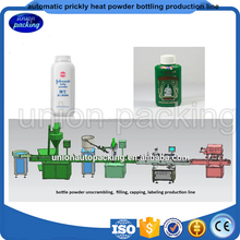 Automatic prickly heat powder bottling Filling production line