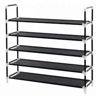 High quality metal home furniture KD storage shoe 5 shelves portable commercial shoe rack organizer for living room