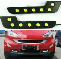 Waterproof Car 7shape 6 LED Car Head Front Fog Day Daytime Driving Lights Running Lamp