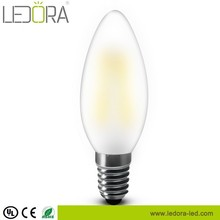 4w C17 Torpedo Shape Candelabra Style LED Bulb with frosted glass