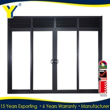 YY construction provide luxury aluminum indian main door designs with double or triple glazing