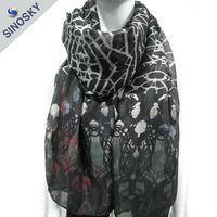 Advertising best fashionable soft sequin scarf