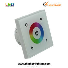 DC12/24V 144W Wall mounted Touch panel switch RGB Full color Led tape light Controller