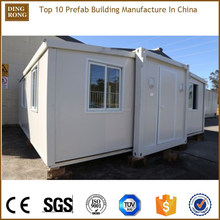 prefab expandable container house mobile home tent chassis