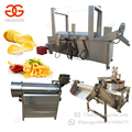 Industrial Automatic Equipment Patato Surgeler Finger Chips Production Line Potato Flakes Making Frozen French Fries Machine