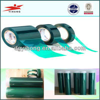 High temperature Polyester PET Green Tape for Power Coating