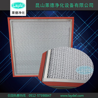 High Temperature Medium efficiency box air filter with separator