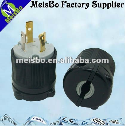 American standard 3 pin plug for electrical and mechanical