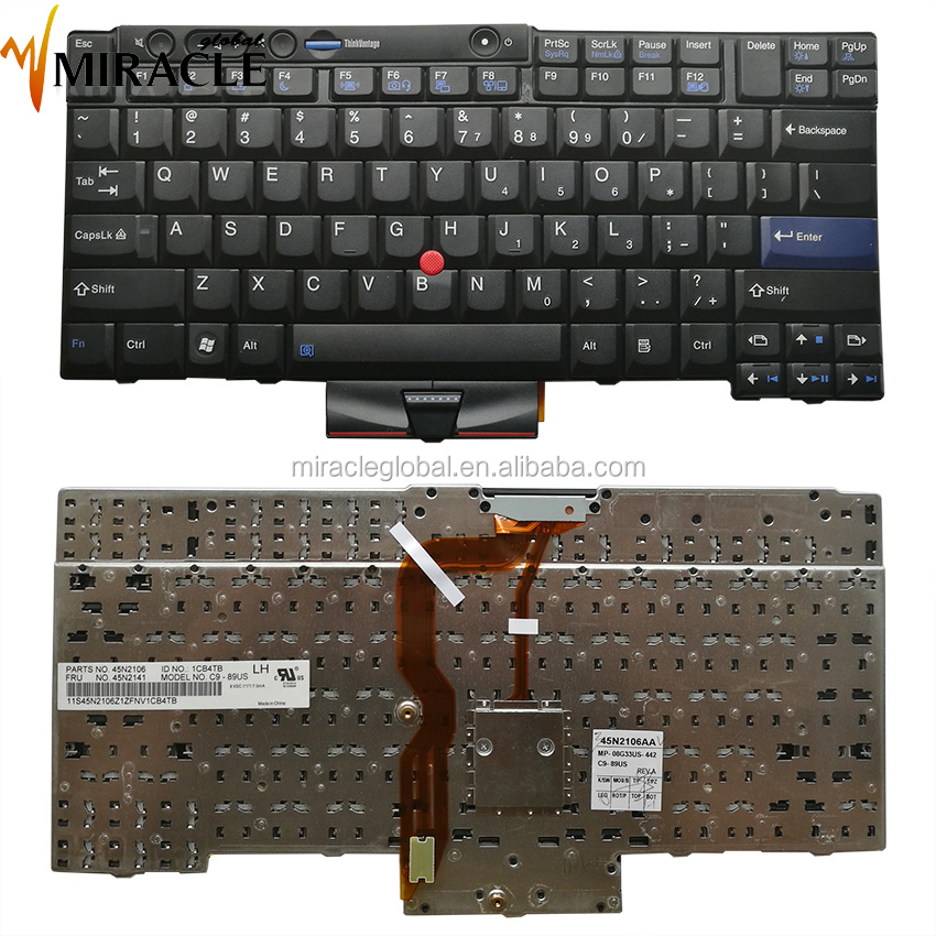Genuine for Lenovo t410 laptop Keyboard US layout