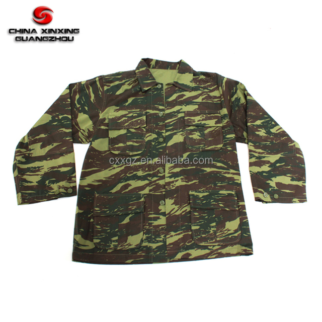 Greek 225gsm 80% cotton 20% polyester Camouflage Woodland Jungle Military Combat uniform