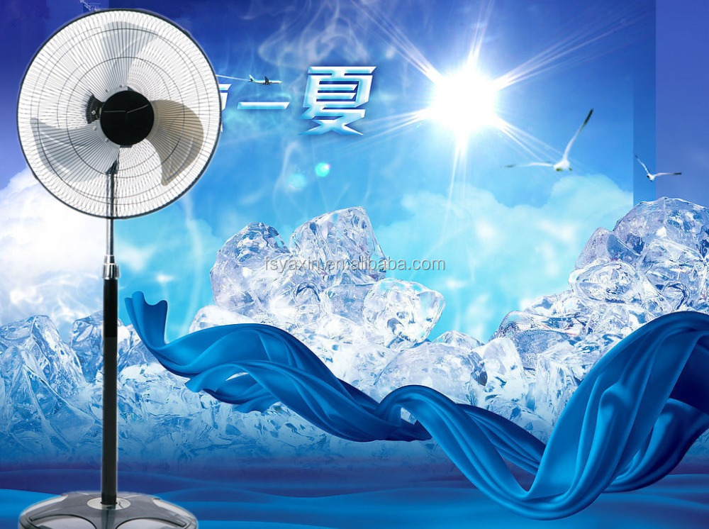 "Large High Velocity Industrial Floor Fan 18"" Floor Stand Mount Oscillating - Cool Black & Silver"