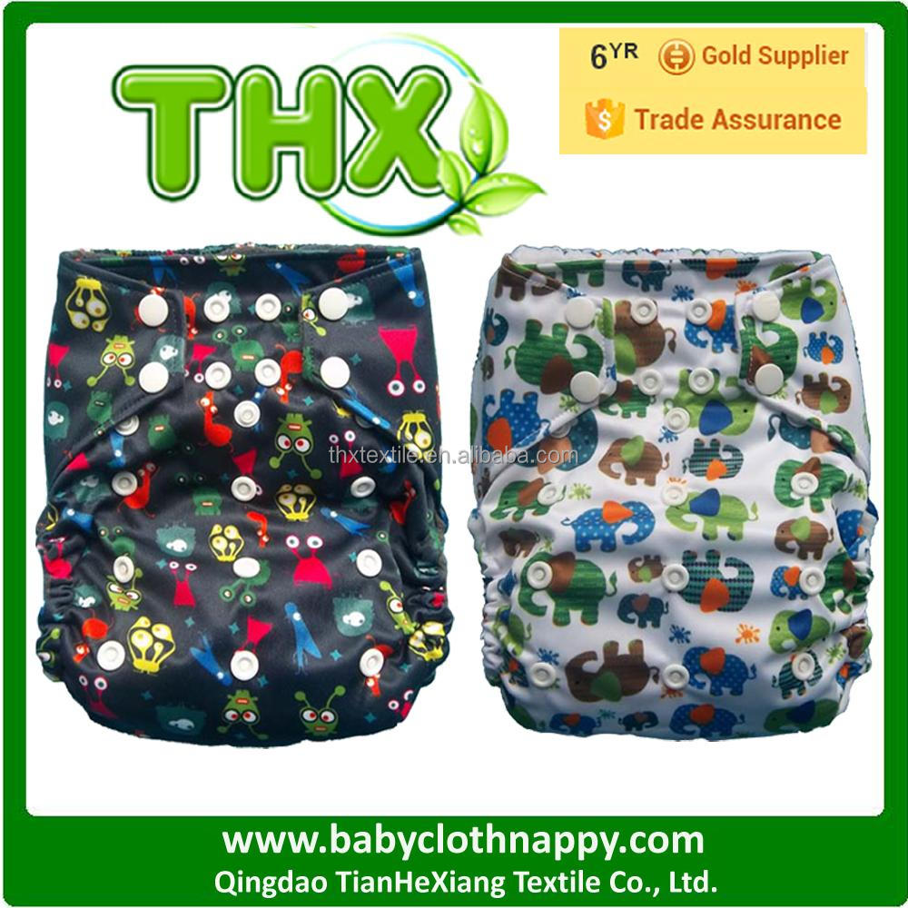 2015 New Design Hot Sale Printed THX Baby Cloth Diaper