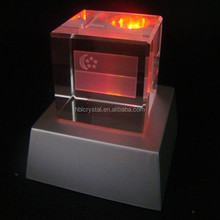 Fancy plastic light base crystal led glass 3d laser for home decoration